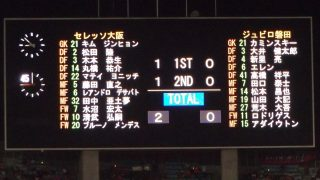 試合結果|C大阪 2-0 磐田