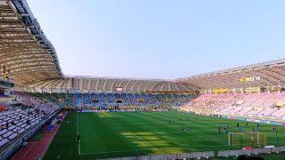 ゴール裏席からの眺め|ユアテックスタジアム
