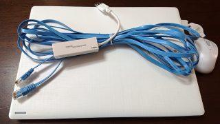 ノートPC&LANケーブル