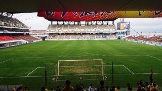 ミクニワールドスタジアム北九州のゴール裏