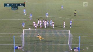力也の直接FKで同点|2020年J2リーグ ファジアーノ岡山戦@ヤマハスタジアム(磐田)