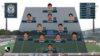 先発メンバー|2020年J2リーグ FC琉球戦@タピック県総ひやごんスタジアム
