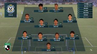 先発メンバー|2020年J2リーグ 松本山雅戦@ヤマハスタジアム