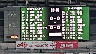 先発メンバー|2020年J2リーグ 第28節 東京ヴェルディ戦@味の素スタジアム