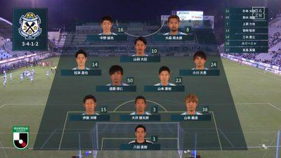 先発メンバー|2020年J2リーグ 第36節 FC琉球戦@ヤマハスタジアム(磐田)