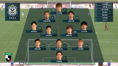先発メンバー|2021年J2リーグ 第41節 琉球 vs. 磐田