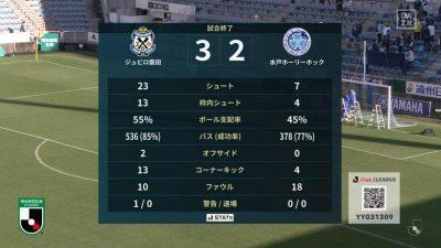 試合結果|ジュビロ磐田 3-2 水戸ホーリーホック
