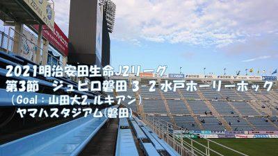 試合結果 ジュビロ磐田 3-2 水戸ホーリーホック