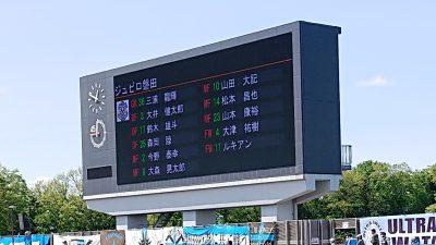 先発メンバー|2021年J2リーグ 第8節 相模原 vs. 磐田