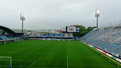 雷雨で中断|2021年J2リーグ 第11節 磐田 vs. 栃木