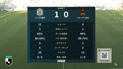 試合結果|磐田 1-0 金沢