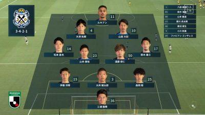 先発メンバー|2021年J2リーグ 第17節 北九州 vs. 磐田