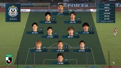 先発メンバー 2021年J2リーグ 第26節 金沢 vs. 磐田
