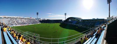 ヤマハスタジアム(アウェイ側から)|磐田 vs. 北九州
